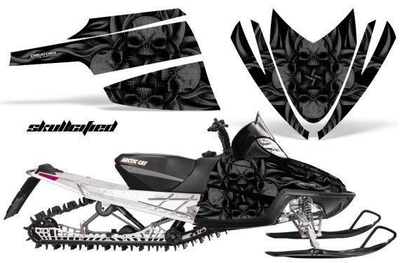 Arctic Cat M Series CrossFire CreatorX Graphics Kit Skullcified Flat Black 570x376 - Arctic Cat M Series Crossfire Graphics