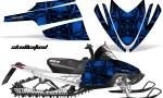 Arctic Cat M Series CrossFire CreatorX Graphics Kit Skullcified Flat Blue 150x90 - Arctic Cat M Series Crossfire Graphics