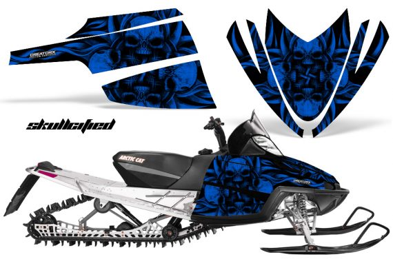 Arctic Cat M Series CrossFire CreatorX Graphics Kit Skullcified Flat Blue 570x376 - Arctic Cat M Series Crossfire Graphics