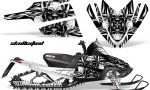 Arctic Cat M Series CrossFire CreatorX Graphics Kit Skullcified Flat Silver 150x90 - Arctic Cat M Series Crossfire Graphics