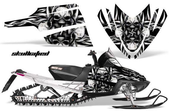 Arctic Cat M Series CrossFire CreatorX Graphics Kit Skullcified Flat Silver 570x376 - Arctic Cat M Series Crossfire Graphics