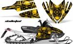 Arctic Cat M Series CrossFire CreatorX Graphics Kit Skullcified Flat Yellow 150x90 - Arctic Cat M Series Crossfire Graphics