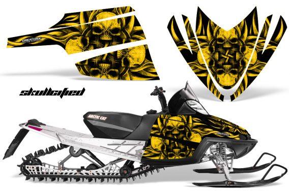 Arctic Cat M Series CrossFire CreatorX Graphics Kit Skullcified Flat Yellow 570x376 - Arctic Cat M Series Crossfire Graphics