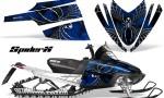 Arctic Cat M Series CrossFire CreatorX Graphics Kit SpiderX Blue 150x90 - Arctic Cat M Series Crossfire Graphics