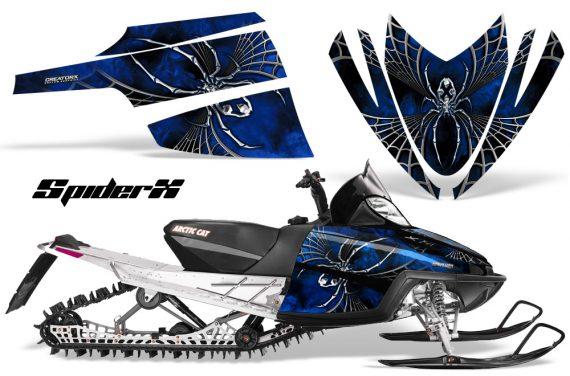 Arctic Cat M Series CrossFire CreatorX Graphics Kit SpiderX Blue 570x376 - Arctic Cat M Series Crossfire Graphics