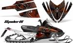 Arctic Cat M Series CrossFire CreatorX Graphics Kit SpiderX Orange Dark 150x90 - Arctic Cat M Series Crossfire Graphics