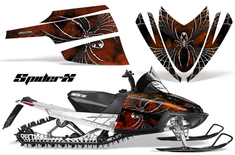 Arctic-Cat-M-Series-CrossFire-CreatorX-Graphics-Kit-SpiderX-Orange-Dark