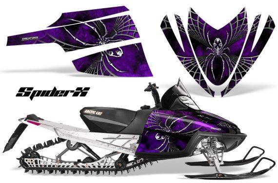 Arctic Cat M Series CrossFire CreatorX Graphics Kit SpiderX Purple 570x376 - Arctic Cat M Series Crossfire Graphics