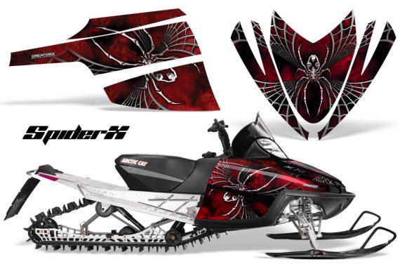 Arctic Cat M Series CrossFire CreatorX Graphics Kit SpiderX Red 570x376 - Arctic Cat M Series Crossfire Graphics