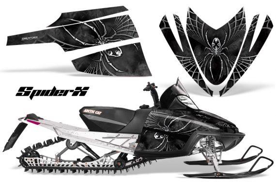 Arctic Cat M Series CrossFire CreatorX Graphics Kit SpiderX Silver 570x376 - Arctic Cat M Series Crossfire Graphics