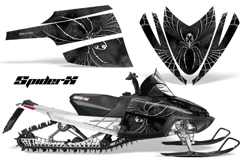 Arctic-Cat-M-Series-CrossFire-CreatorX-Graphics-Kit-SpiderX-Silver