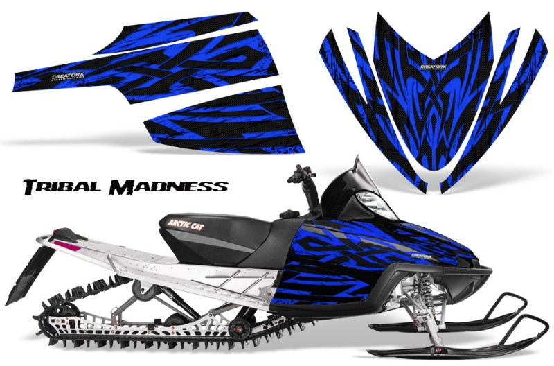 Arctic-Cat-M-Series-CrossFire-CreatorX-Graphics-Kit-Tribal-Madness-Blue