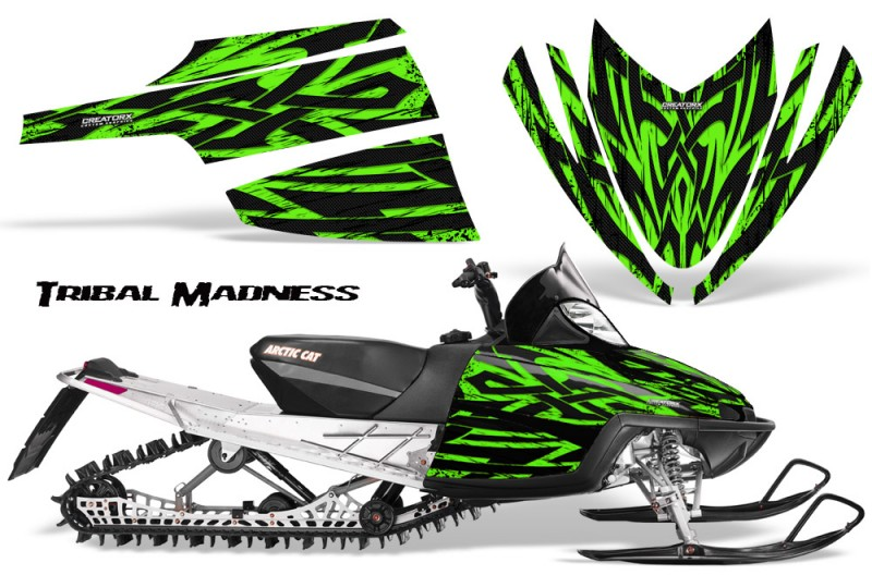 Arctic-Cat-M-Series-CrossFire-CreatorX-Graphics-Kit-Tribal-Madness-Green