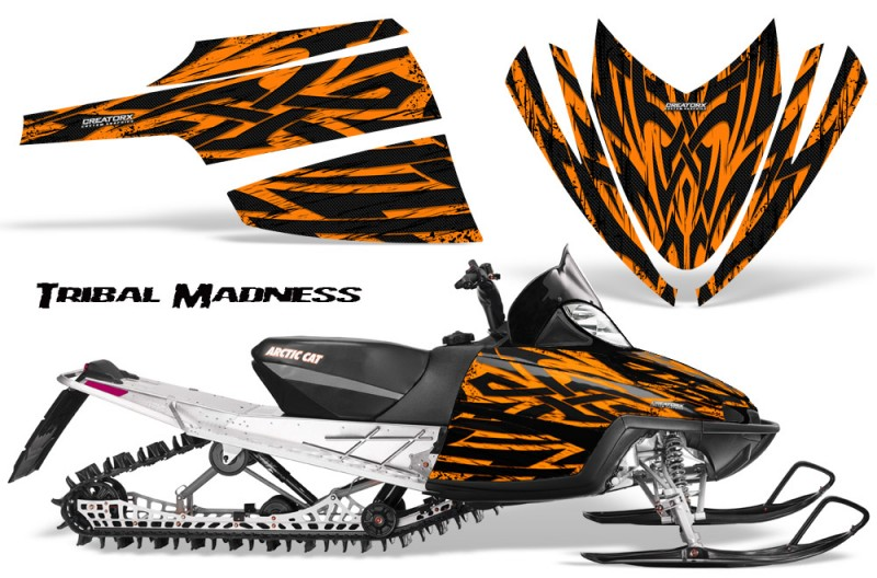 Arctic-Cat-M-Series-CrossFire-CreatorX-Graphics-Kit-Tribal-Madness-Orange