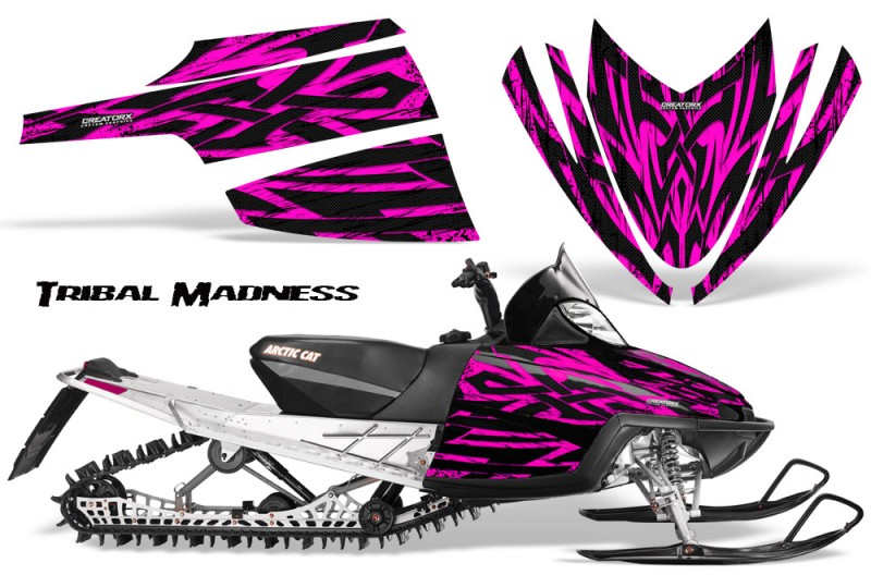 Arctic-Cat-M-Series-CrossFire-CreatorX-Graphics-Kit-Tribal-Madness-Pink