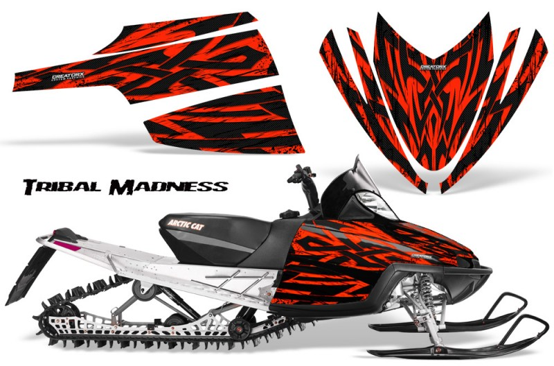 Arctic-Cat-M-Series-CrossFire-CreatorX-Graphics-Kit-Tribal-Madness-Red