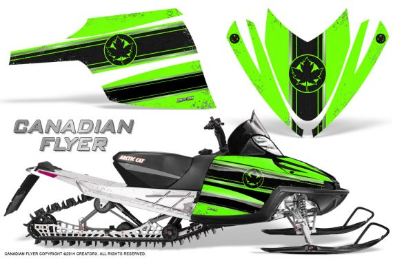 Arctic-Cat-M-Series-CrossFire-Graphics-Kit-Canadian-Flyer-Black-Green