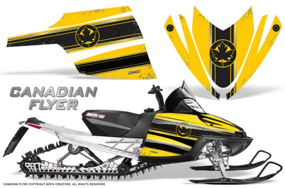 Arctic-Cat-M-Series-CrossFire-Graphics-Kit-Canadian-Flyer-Black-Yellow