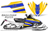 Arctic-Cat-M-Series-CrossFire-Graphics-Kit-Canadian-Flyer-Blue-Yellow