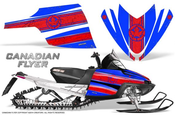 Arctic-Cat-M-Series-CrossFire-Graphics-Kit-Canadian-Flyer-Red-Blue