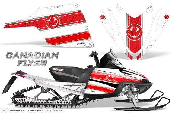 Arctic-Cat-M-Series-CrossFire-Graphics-Kit-Canadian-Flyer-Red-White