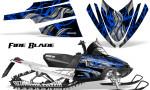 Arctic Cat M Series CrossFire Graphics Kit Fire Blade Blue Black 150x90 - Arctic Cat M Series Crossfire Graphics