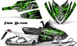 Arctic Cat M Series CrossFire Graphics Kit Fire Blade Green Black 150x90 - Arctic Cat M Series Crossfire Graphics
