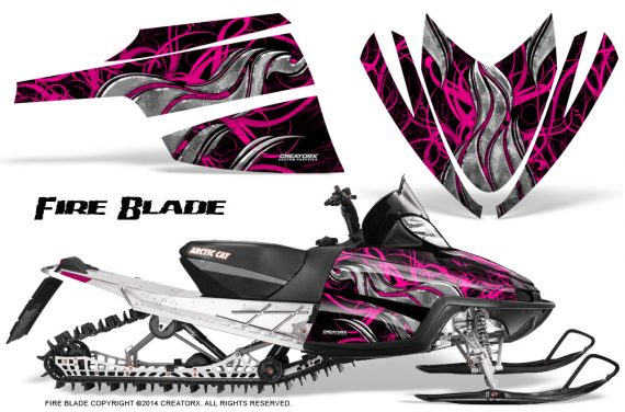 Arctic-Cat-M-Series-CrossFire-Graphics-Kit-Fire-Blade-Pink-Black
