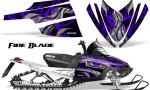 Arctic Cat M Series CrossFire Graphics Kit Fire Blade Purple Black 150x90 - Arctic Cat M Series Crossfire Graphics