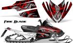 Arctic Cat M Series CrossFire Graphics Kit Fire Blade Red Black 150x90 - Arctic Cat M Series Crossfire Graphics
