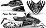 Arctic Cat M Series CrossFire Graphics Kit Fire Blade Silver Black 150x90 - Arctic Cat M Series Crossfire Graphics