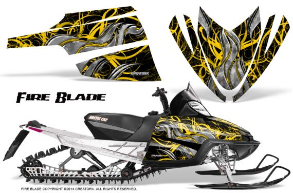 Arctic-Cat-M-Series-CrossFire-Graphics-Kit-Fire-Blade-Yellow-Black