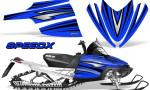 Arctic Cat M Series CrossFire Graphics Kit SpeedX Black Blue 150x90 - Arctic Cat M Series Crossfire Graphics