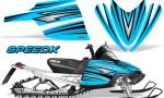 Arctic Cat M Series CrossFire Graphics Kit SpeedX Black BlueIce 150x90 - Arctic Cat M Series Crossfire Graphics