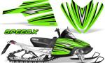 Arctic Cat M Series CrossFire Graphics Kit SpeedX Black Green 150x90 - Arctic Cat M Series Crossfire Graphics