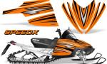 Arctic Cat M Series CrossFire Graphics Kit SpeedX Black Orange 150x90 - Arctic Cat M Series Crossfire Graphics