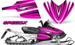 Arctic Cat M Series CrossFire Graphics Kit SpeedX Black Pink 150x90 - Arctic Cat M Series Crossfire Graphics