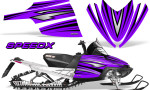Arctic Cat M Series CrossFire Graphics Kit SpeedX Black Purple 150x90 - Arctic Cat M Series Crossfire Graphics