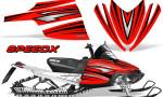 Arctic Cat M Series CrossFire Graphics Kit SpeedX Black Red 150x90 - Arctic Cat M Series Crossfire Graphics
