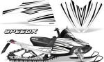 Arctic Cat M Series CrossFire Graphics Kit SpeedX Black White 150x90 - Arctic Cat M Series Crossfire Graphics