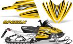 Arctic Cat M Series CrossFire Graphics Kit SpeedX Black Yellow 150x90 - Arctic Cat M Series Crossfire Graphics