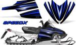 Arctic Cat M Series CrossFire Graphics Kit SpeedX Blue Black 150x90 - Arctic Cat M Series Crossfire Graphics
