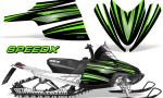 Arctic Cat M Series CrossFire Graphics Kit SpeedX Green Black 150x90 - Arctic Cat M Series Crossfire Graphics