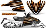 Arctic Cat M Series CrossFire Graphics Kit SpeedX Orange Black 150x90 - Arctic Cat M Series Crossfire Graphics