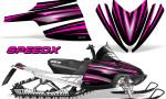 Arctic Cat M Series CrossFire Graphics Kit SpeedX Pink Black 150x90 - Arctic Cat M Series Crossfire Graphics