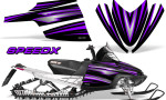 Arctic Cat M Series CrossFire Graphics Kit SpeedX Purple Black 150x90 - Arctic Cat M Series Crossfire Graphics