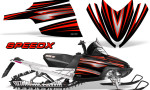 Arctic Cat M Series CrossFire Graphics Kit SpeedX Red Black 150x90 - Arctic Cat M Series Crossfire Graphics