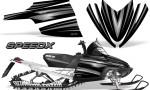 Arctic Cat M Series CrossFire Graphics Kit SpeedX Silver Black 150x90 - Arctic Cat M Series Crossfire Graphics