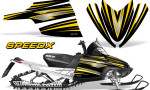 Arctic Cat M Series CrossFire Graphics Kit SpeedX Yellow Black 150x90 - Arctic Cat M Series Crossfire Graphics