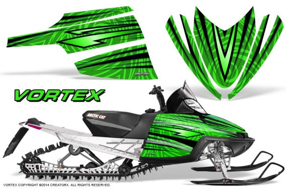 Arctic-Cat-M-Series-CrossFire-Graphics-Kit-Vortex-Black-Green